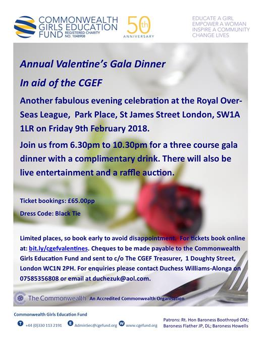Annual Valentines Gala Dinner 2018