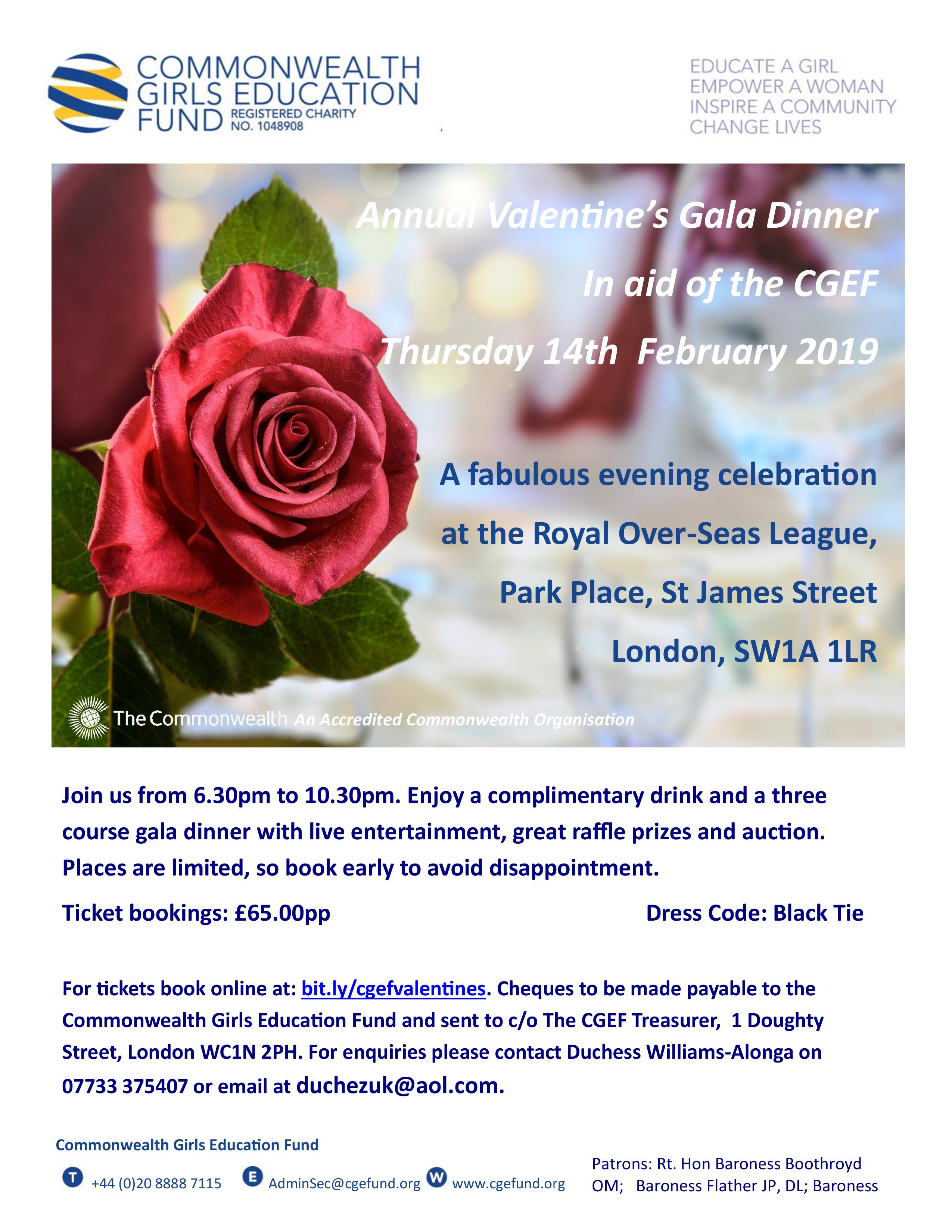 Annual Valentines Gala Dinner 2019
